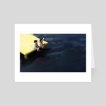 Boy and girl on the waterfront 2 - Art Card by Archv Rit