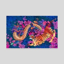 Crouching Tiger Hidden Dragon - Canvas by Arden Powell