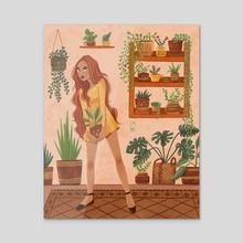 Home Jungle - Acrylic by Laura Dumitriu