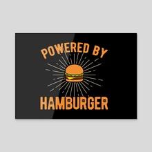 Hamburger Funny - Acrylic by Visuals Artwork
