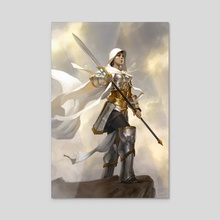 Elspeth, Sun's Champion - Acrylic by Tyler Jacobson