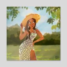 summer again  - Acrylic by Laura Dumitriu