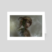 Portrait of the Girl - Art Card by Flo Tucci