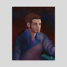 Male Study Portrait - Canvas by Romansackboy
