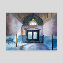 Convent Hallway in Portugal - Canvas by Garth Laidlaw