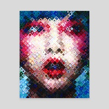 Pixelated Girl - Canvas by hazel thexton
