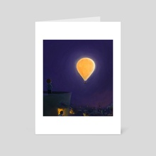Mon is a balloon - Art Card by VESLE