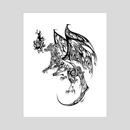 Tribal Dragon by Katrina Wold