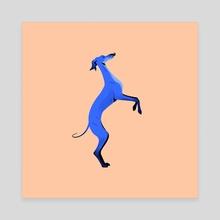 Greyhound pose 7 - Canvas by Joanna Dudoń