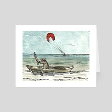 Kite Surfing in Columbia - Art Card by Dan Archer