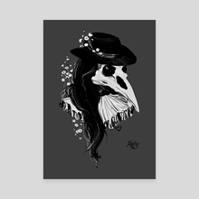 Plague Doctor - Canvas by Kate Trish