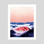 When Mountains Were Ugly - Art Print by Zoe van Dijk