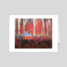 Bohemian Grove - Art Card by richard glenn