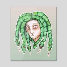 Medusa - Acrylic by Bianca Wisseloo
