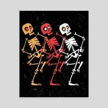 Dancing Skeletons - Canvas by Hayden Evans