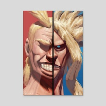All might - Acrylic by Liam Maher