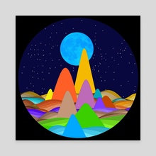 Fanciful Hills -2 - Canvas by Vidka Art