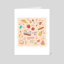 Summer Picnic - Art Card by Karina Perez