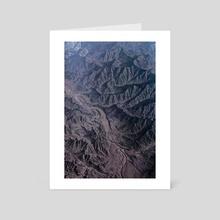 AL HAJAR MOUNTAINS - Art Card by B. Lennox-John