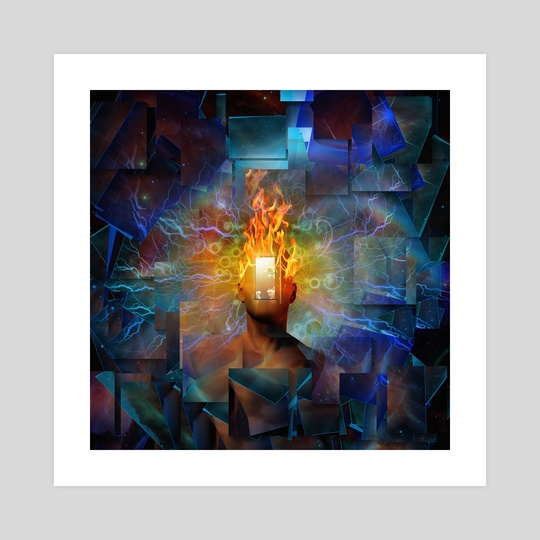 Burning mind by Bruce Rolff