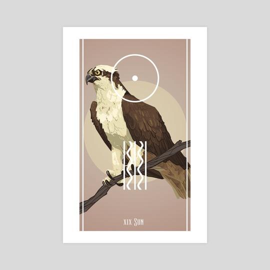 Bird Tarot - The Sun by Fiona Marchbank