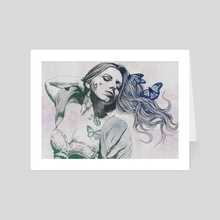 Beautiful Ruin: Jade | sexy girl in lingerie with butterflies - Art Card by Marco Paludet