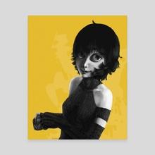 jaune - Canvas by Britney Winthrope