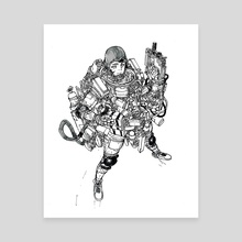 Astro Girl - Canvas by Ryan Barry
