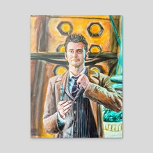 The Tenth Doctor - Acrylic by Leo Flander