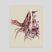 Weeping woman  - Canvas by Pablo Puentes