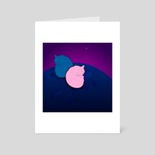 cats two - Art Card by Marina Koltsova