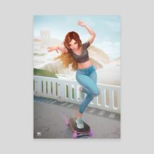 Skater girl - Canvas by Igor Lomov