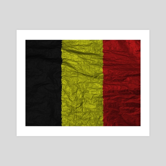 belgium flag with texture by Marco Livolsi