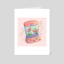 Ring Toss - Art Card by Brittnie