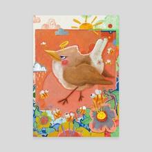 Happy Bird - Canvas by Yevhenii Slobodenko