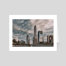 Downtown, Shenzhen, (China), #05, 06-2018 - Art Card by Vlad Meytin