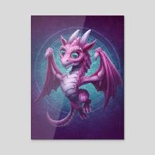 Baby Dragon - Acrylic by Kerem Beyit