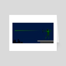 Minimal Green Arrow - Art Card by Mr Bayless