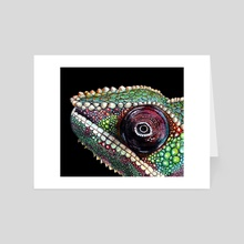 Rex the Zen Chameleon - Art Card by Tayla Köhler