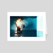 Burning man - Art Card by Alberto Andrei Rosu