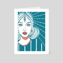 Thinking In Colours - Art Card by Miki Nozomi