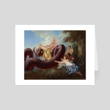 "The ""Abduction"" of Aziraphale - Art Card by Rafael Cliopadra Burden"