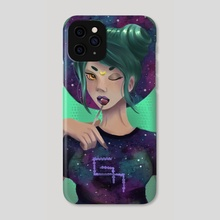 Nebulosa Girl - Phone Case by Gabrielle Macarty