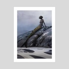Mermaid Silhouette - Art Print by Andrew Sonea