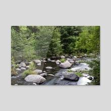 Oak Creek, Sedona AZ - Acrylic by Bob Rollar