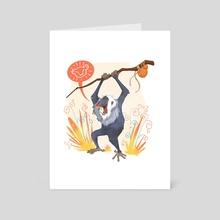 Rafiki's Happy Dance - Art Card by Charli Vince