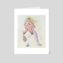 Carrying Herself - Art Card by Christian Alexander