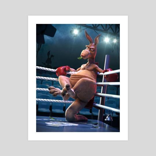 Boxing Kangaroo by Jose Alves da Silva