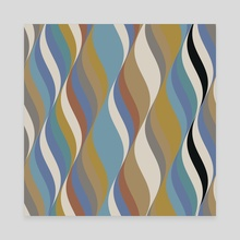Waves 21 - Canvas by Chris Foulkes