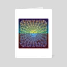 Dawico Geometric Desert Opart - Art Card by Alice Iranon